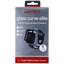 ZAGG Glass Curve Elite Screen Protector for 38mm Apple Watch Series 3  -Clear/Blk (Refurbished) - Walmart.com - Walmart.com