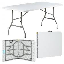 white folding table 6ft hartleys