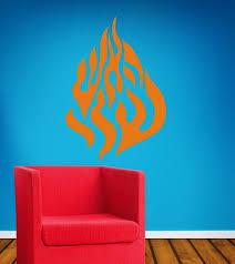 Nah Nach Nachman Meuman Flames Fire Wall Vinyl Decal Etsy