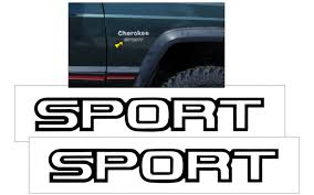 Graphic Express 1994 96 Jeep Cherokee Xj Sport Fender Decal Set