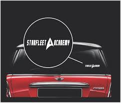 Starfleet Academy Star Trek Window Decal Sticker Custom Sticker Shop
