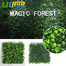 Uland Artificial Boxwood Hedge Mat Fake Ivy Fence Covering Faux Outdoor Topiaries 3 Sqm Plastic Lattice Panels Garden Home Decor Aliexpress
