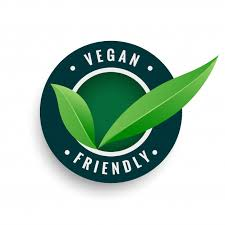 Vegan friendly leaves label in green color Free Vector - Nohat