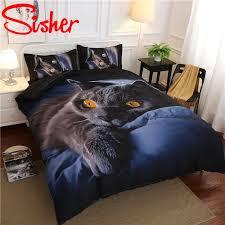 3d print cartoon cat duvet cover set