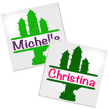 Personalized Cactus Decal For Cup Car Or Laptop Decals By Adavis