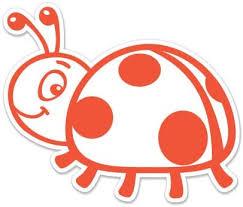 Amazon Com Cute Ladybug 3 Vinyl Sticker For Car Laptop I Pad Phone Helmet Hard Hat Waterproof Decal Home Kitchen