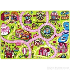 Mybecca Kids Rug 5 X 7 Colourful Fun Land Roads Childrens Floor Play Children Area Rug