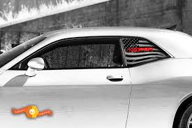 Product 2 Dodge Challenger Window Us Flag Mopar Vinyl Windshield Decal Graphic Stickers