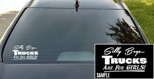 Silly Boys Trucks Are For Girls Vinyl Decal Trucks Are For Etsy