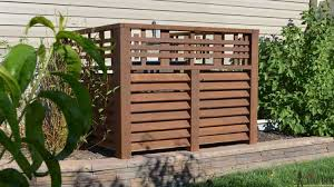 Wood Louver A C Unit Screen Her Tool Belt