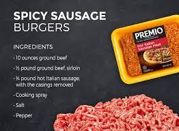 7 great sausage burger recipes premio