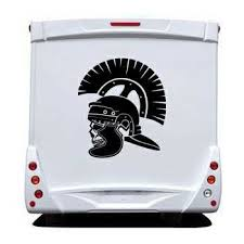 Roman Soldier Skull Camping Car Sticker 23