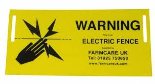 Warning Sign Electric Fencing Accessories Farmcare Uk Farmcareuk Com