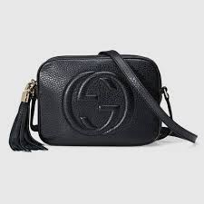 black leather soho small disco bag