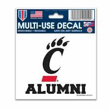 Cincinnati Bearcats Alumni 3 X4 Multi Use Decal Perfect For Car Windows Ebay