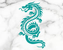 Dragon Window Decal Etsy