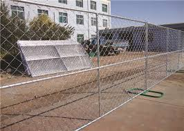 Freestanding 6ft Chain Link Fence Panels Mobile Portable Chain Link Fence