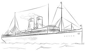 Dibujo de Barco de vapor para colorear | Dibujos para colorear ...