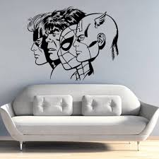 Removable Vinyl Wall Sticker Superheroes Wall Decal Kids Boys Room Decoration Captain America Spiderman Hulk Wall Murals Ay1469 Buy At The Price Of 8 25 In Aliexpress Com Imall Com