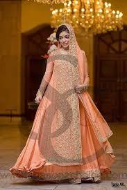 orange bridal dresses for walima 2018