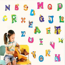 Shop Cartoon Colorful 26 Letters Alphabet Wall Sticker Kids Room Nursery Room Decor Wall Decal Vinyl Bedroom Mural Online From Best Wall Stickers Murals On Jd Com Global Site Joybuy Com