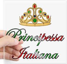 Amazon Com Cafepress Principessa Italiana Italian Princess Sticker Square Bumper Sticker Car Decal 3 X3 Small Or 5 X5 Large Home Kitchen