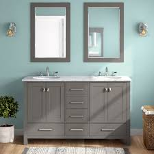 double bathroom vanity set with mirror