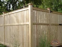 Wood Fence Semi Screens