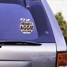 Texas A M Proud To Be An Aggie Teacher Decal White Aggieland Outfitters