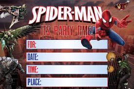 Amazon Com Tarjetas De Invitacion Spiderman 25 Invitaciones De