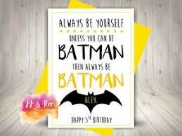 handmade personalised always be batman quote birthday card son