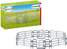Amazon Com Schleich Farm World Corral Fence With Gate For Kids Ages 3 8 Toys Games