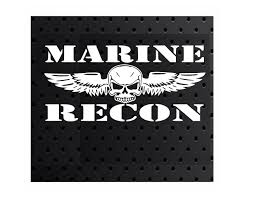 Does Not Apply Marine Recon Vinyl Window Decal Usmc 10 X 4 75