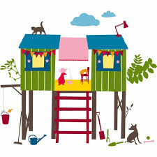 Roommates Hs60020 Tree House Peel And Stick Giant Wall Decals For Sale Online Ebay