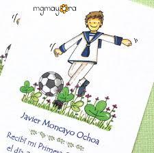Recordatorios De Comunion Personalizados Para Nino Con Balon De
