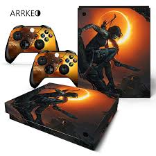 Arrkeo Shadow Of The Tomb Raider Vinyl Cover Decal Xboxone X Skin Sticker For Xbox One X Console 2 Controller Christmas Gift Stickers Aliexpress