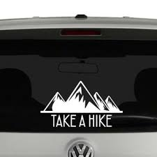 Take A Hike Mountains Retro Vinyl Decal Sticker