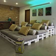 Kids Video Game Room Pallet Bench For The Kids Video Game Room Ideas To Use Home Theater Seating Pallet Furniture Home