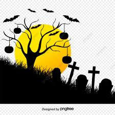 Dead Tree Fence Happy Halloween Ghost Holy Cemetery Halloween Bat Png Transparent Clipart Image And Psd File For Free Download