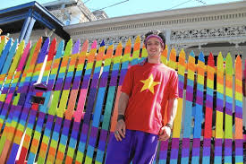 Australian S Rainbow Fence Has Officials Seeing Red Orange Yellow Los Angeles Times