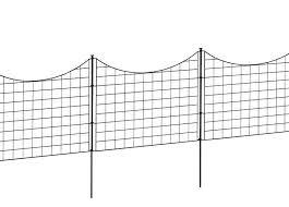 25in Black Metal Wire Zippity Garden Fence