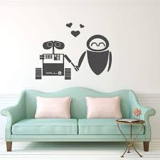 Amazon Com Wall E And Eve Wall Vinyl Decoration Wall Art Decal For Bedroom Or Playroom Handmade