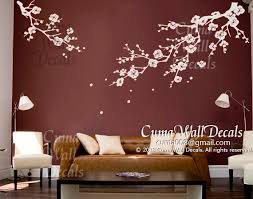 White Cherry Blossom Wall Decals Nursery By Cuma Wall Decals On Zibbet