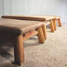 leather gym horse coffee table