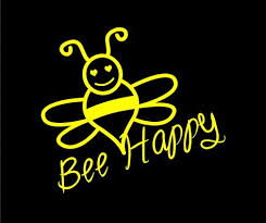 Cute Bee Happy Vinyl Decal Car Decal Auto Decal Vehicle Window Decal Sticker Honey Bee Decal Bee Happy Car Decals Cute Bee