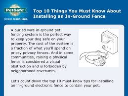 10 Things You Need To Know In Ground Fence