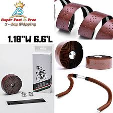 leather handlebar road bike mtb 2pcs