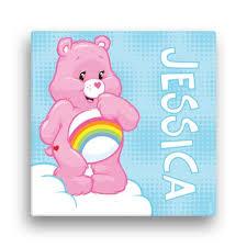 Care Bears Cheer Bear 12 X 12 Canvas Wall Art