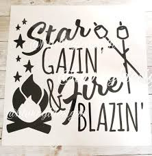 Camping Vinyl Decal Campfire Vinyl Decal Adventure Decal Etsy In 2020 Camping Decor Camping Signs Vinyl Decals