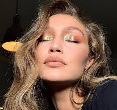 gigi hadid s metallic eye makeup